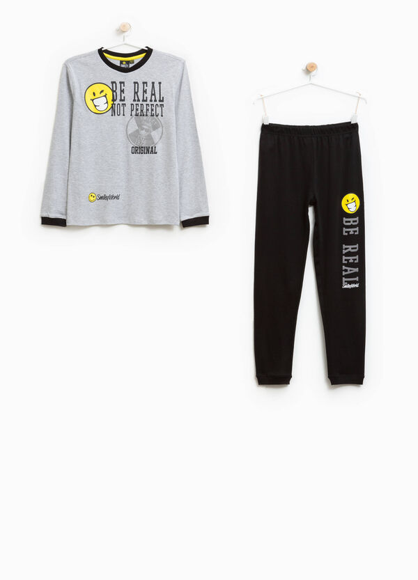 100% cotton pyjamas with printed lettering | OVS