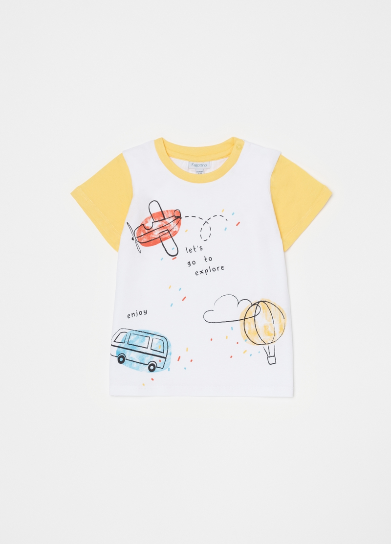 Short pyjamas with aeroplanes print image number null