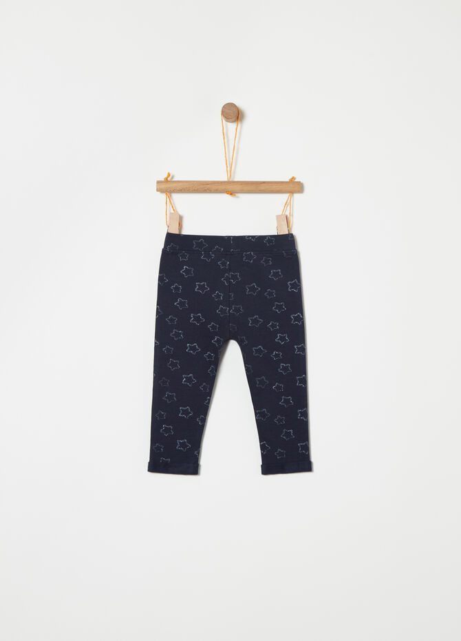 Pantaloni in felpa stretch fantasia glitter