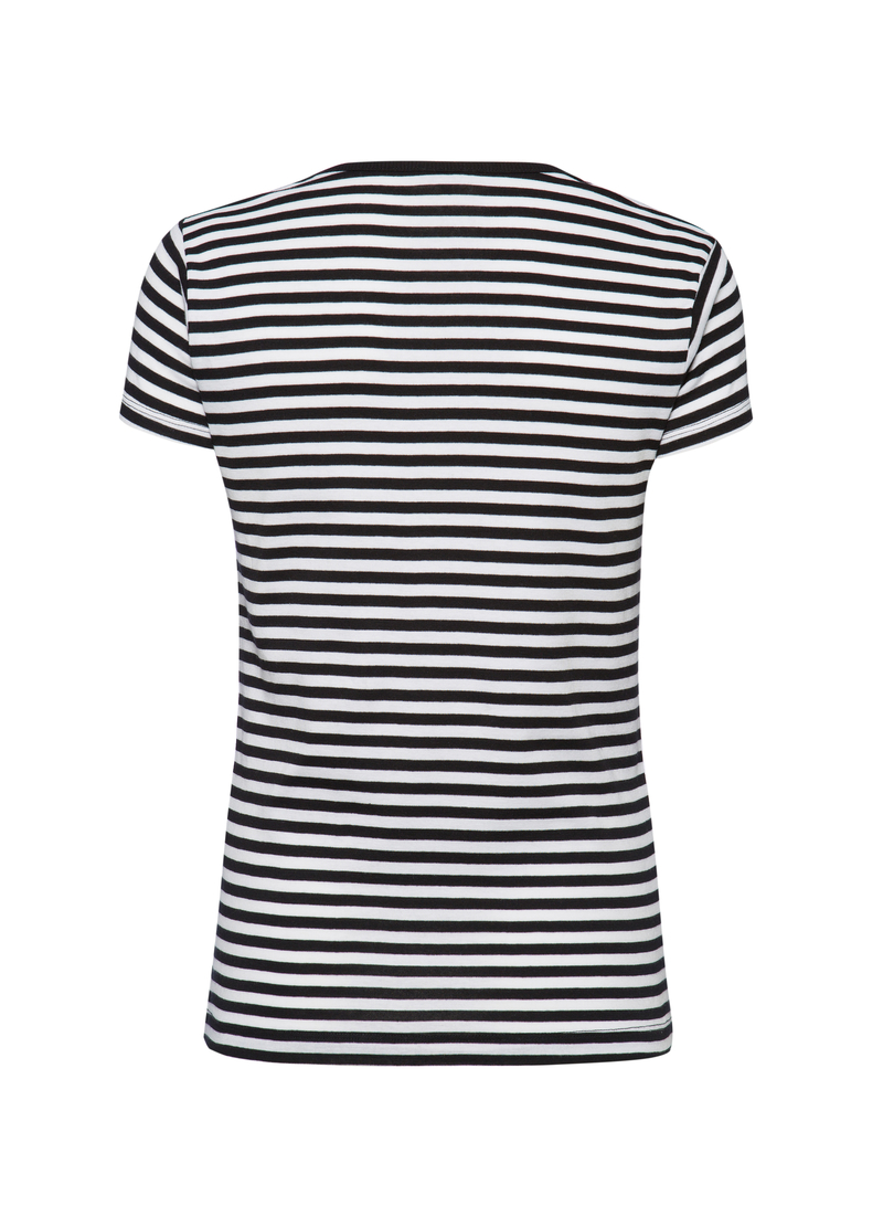 Smart Basic striped T-shirt in 100% cotton image number null