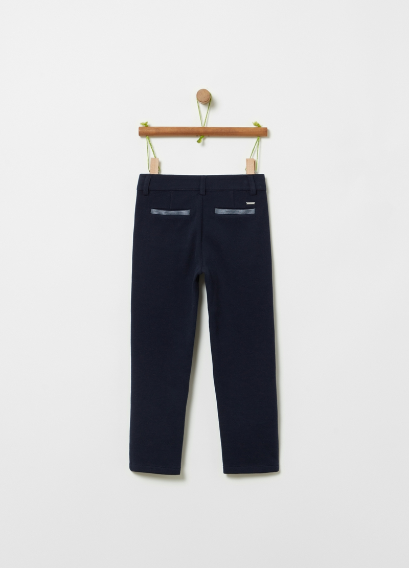 Solid colour trousers with pockets image number null
