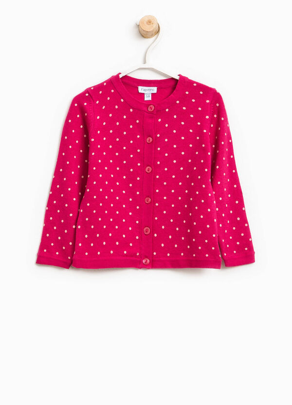 Cotton blend polka dot cardigan | OVS