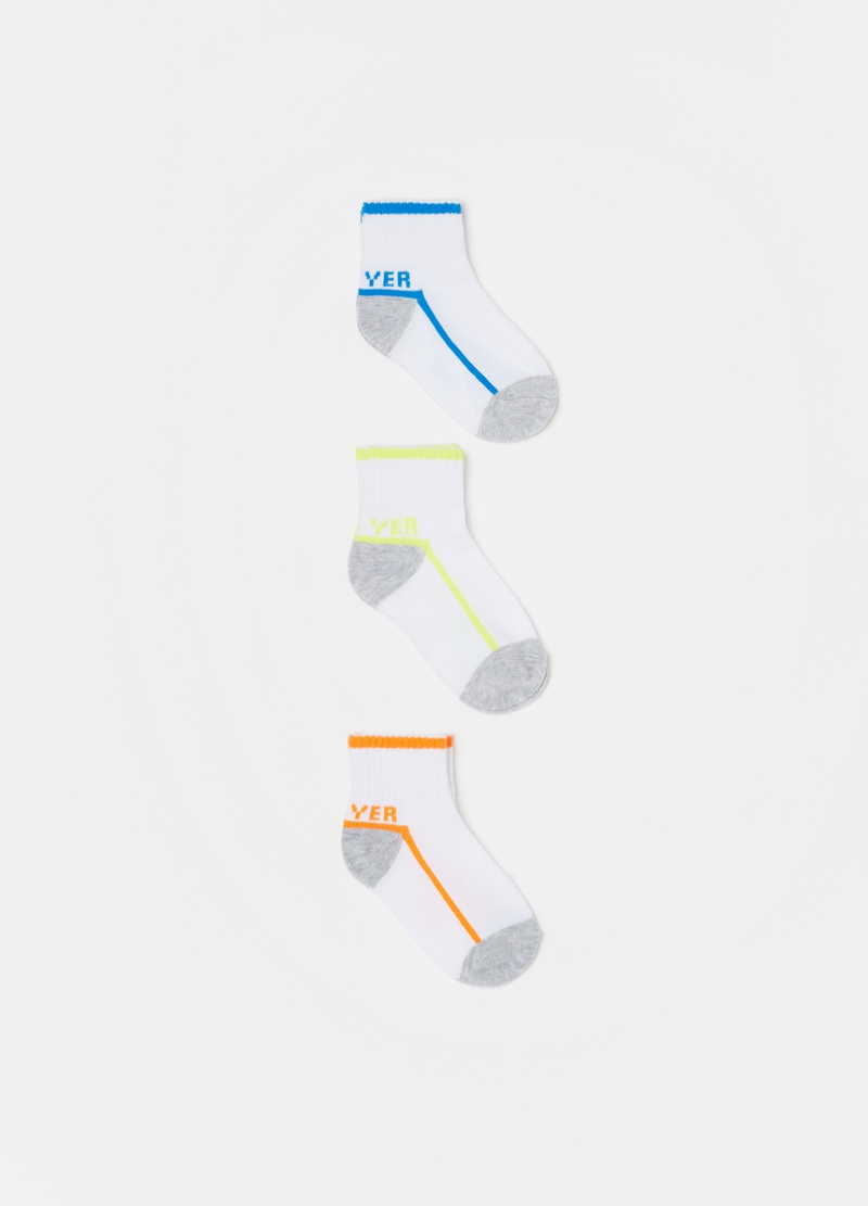 Three-pair pack short stretch socks image number null