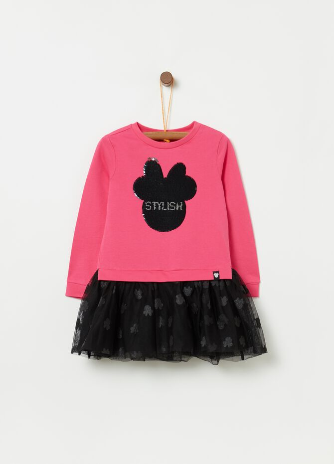 Vestitino tulle e paillettes fantasia Minnie