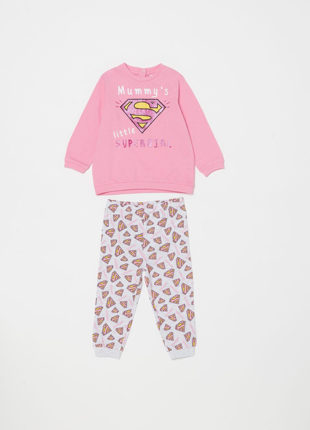 Superman pyjamas with T-shirt and trousers