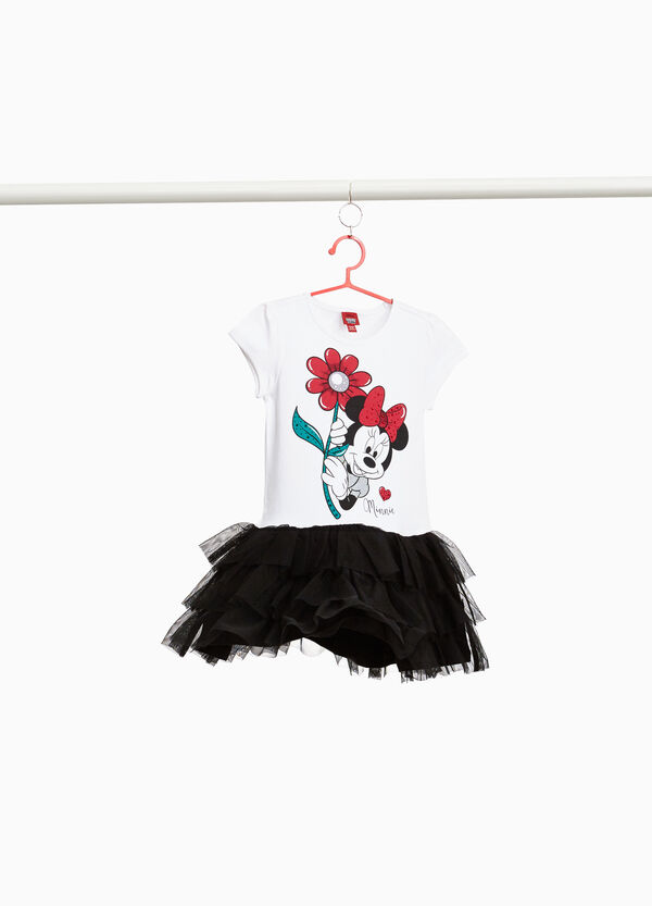 Stretch Minnie Mouse dress with tulle