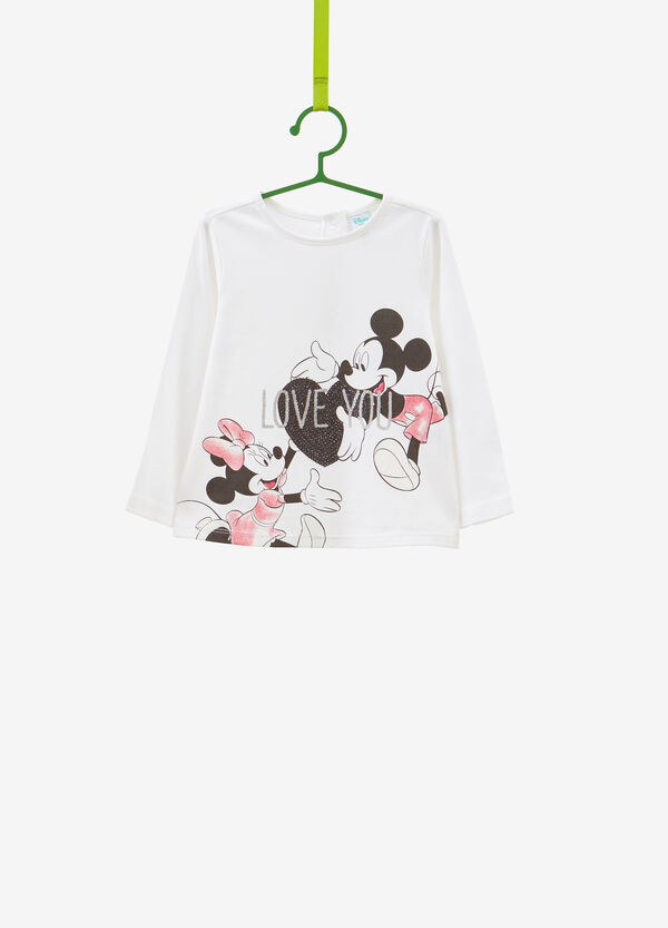 Mickey and Minnie Mouse cotton T-shirt