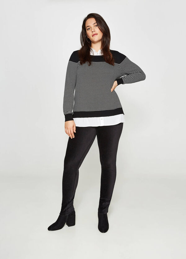 Curvy stretch cotton blend leggings