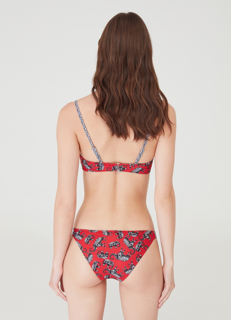 Bikini briefs with all-over elephant print image number null