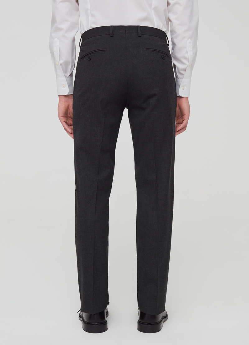 Regular-fit trousers in stretch viscose blend image number null