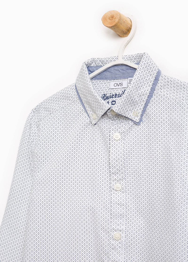 Cotton shirt with all-over print image number null