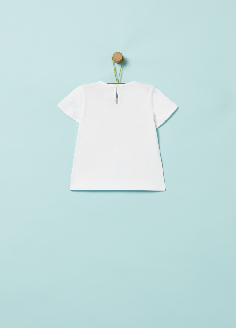 T-shirt cotone bio stampa palloncini image number null