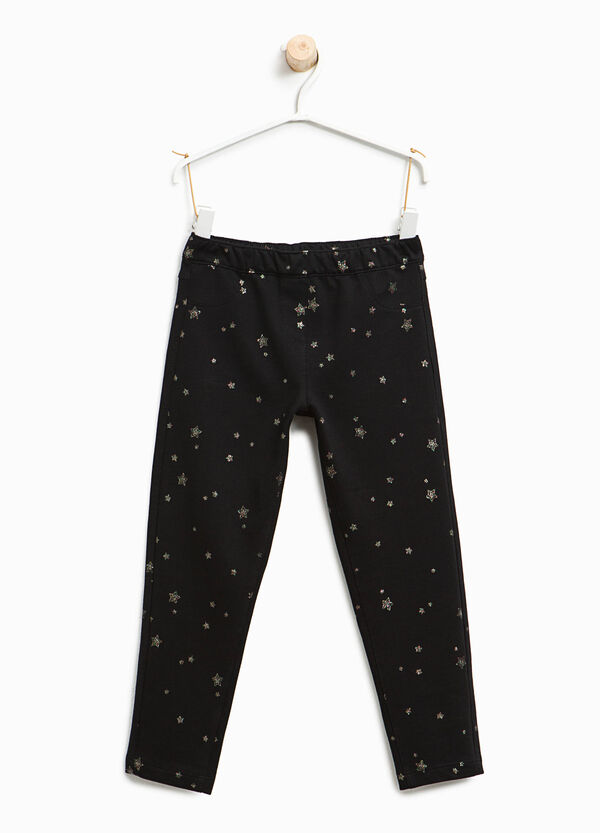 Glitter star patterned trousers | OVS