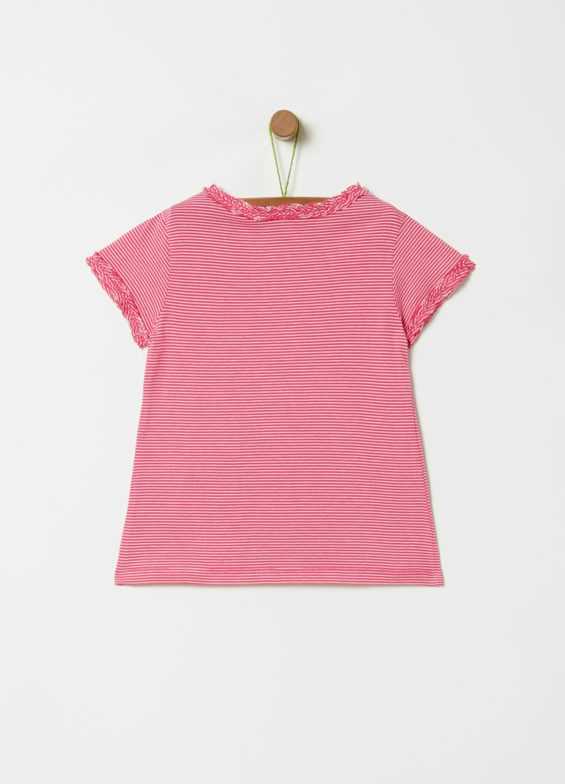 T-shirt in puro cotone a righe image number null
