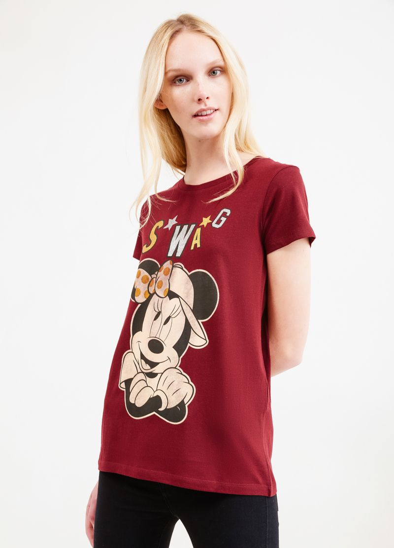 100% cotton T-shirt with Minnie Mouse print image number null