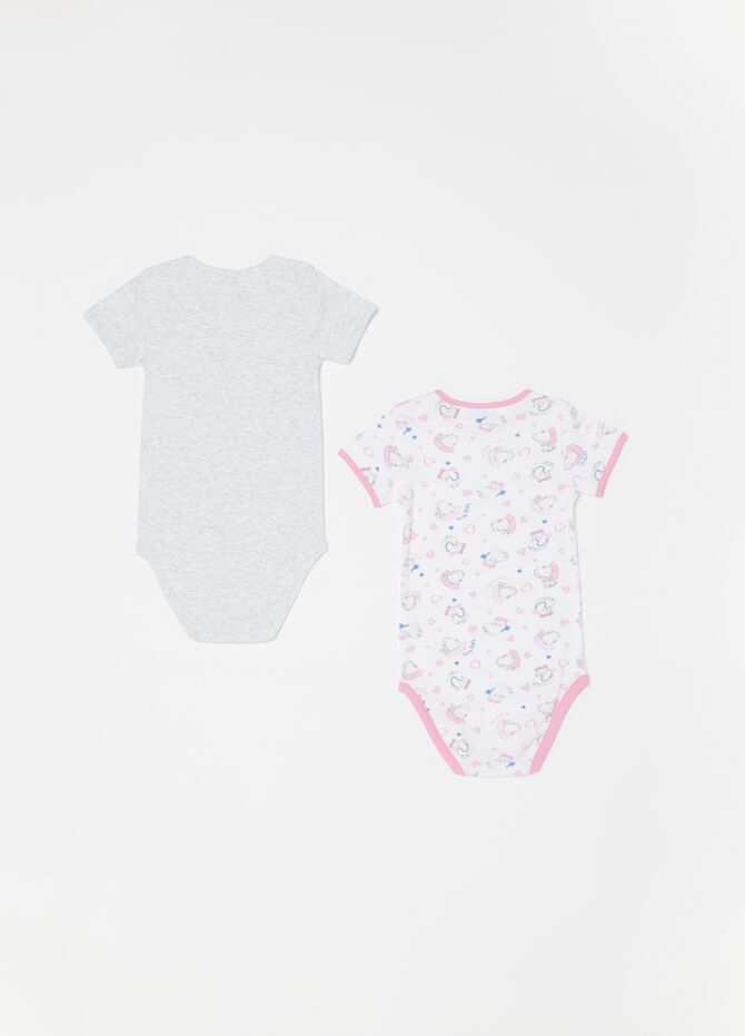 Set due body in biocotton stampa fantasia