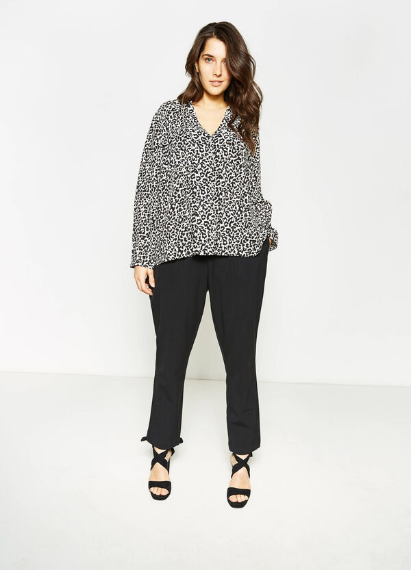 Curvy shirt with animal pattern | OVS