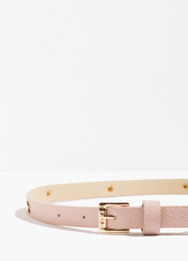Textured-effect belt with stars | OVS