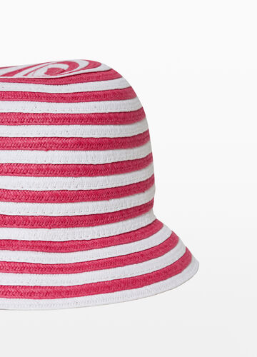 Cappello a falda larga fantasia righe