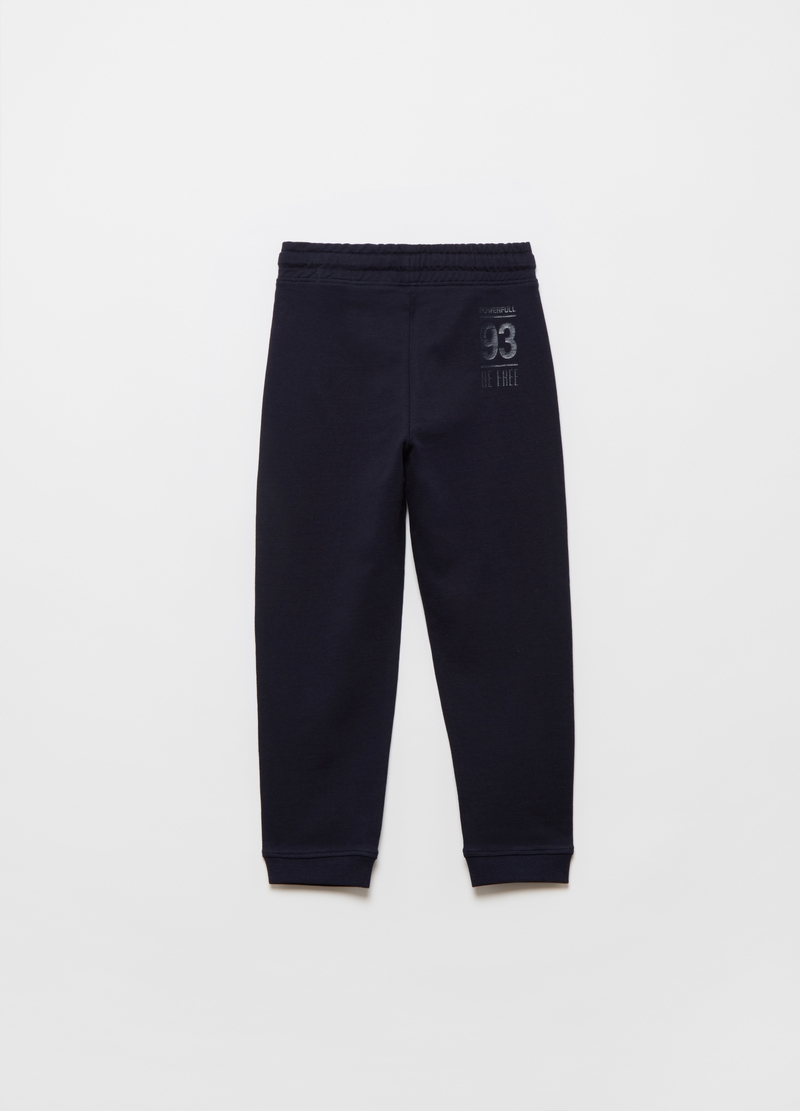 Joggers in French Terry tasca a marsupio image number null
