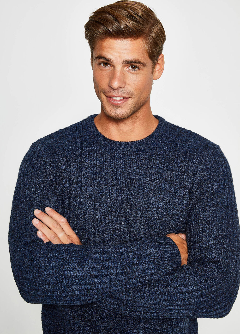 Knitted crew neck pullover