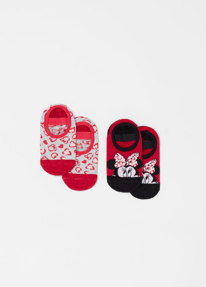 Two-pack shoe liners with Disney Minnie Mouse embroidery
