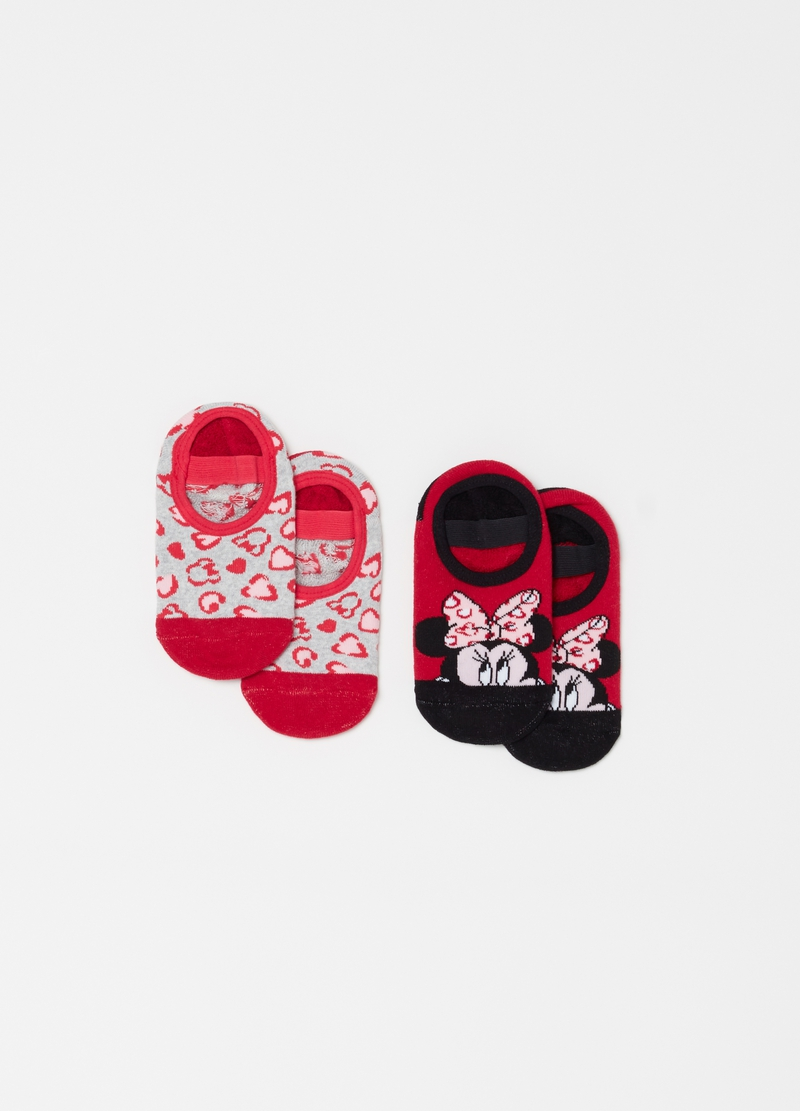Two-pack shoe liners with Disney Minnie Mouse embroidery image number null