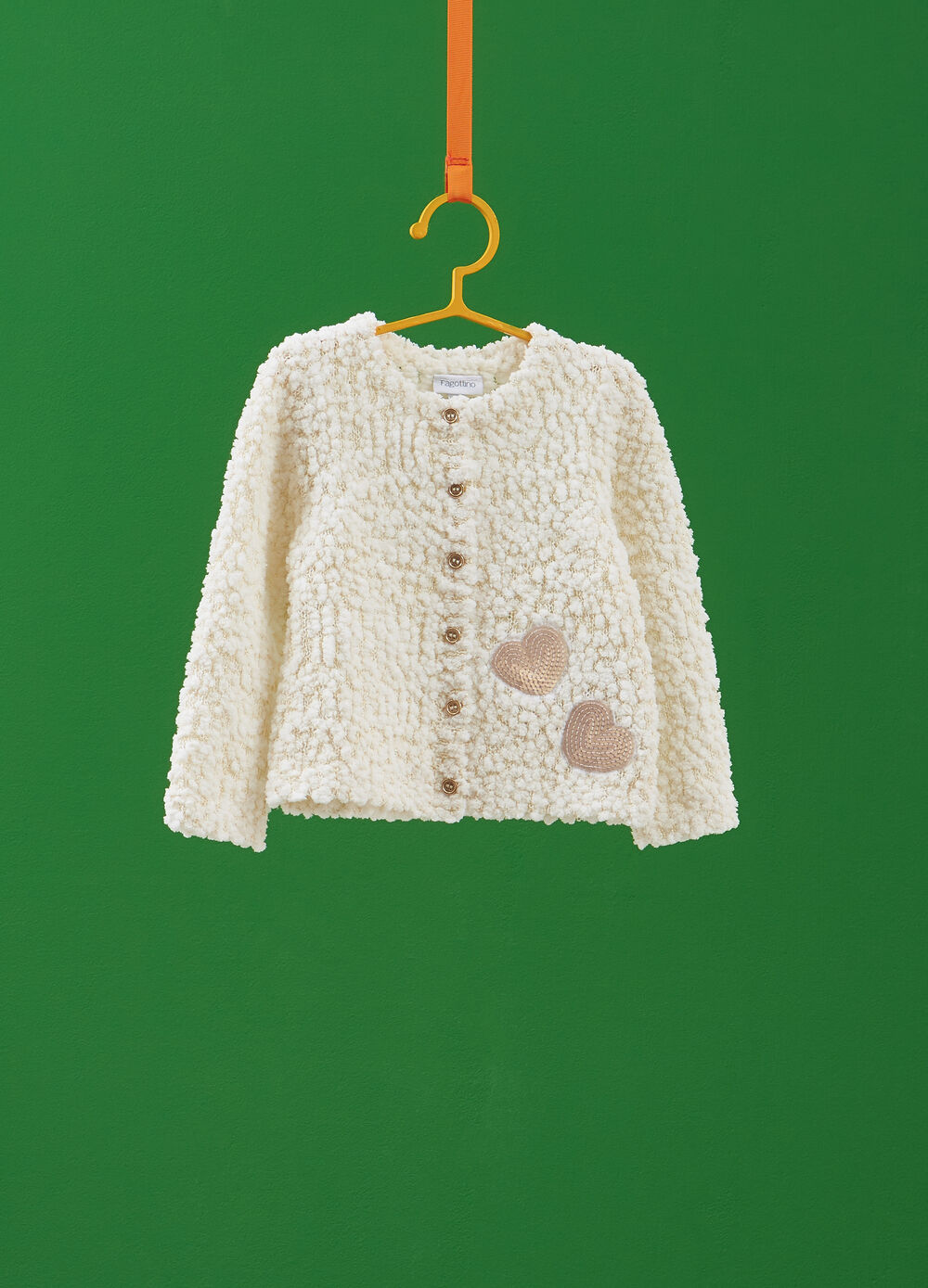 Solid colour knitted cardigan with sequins
