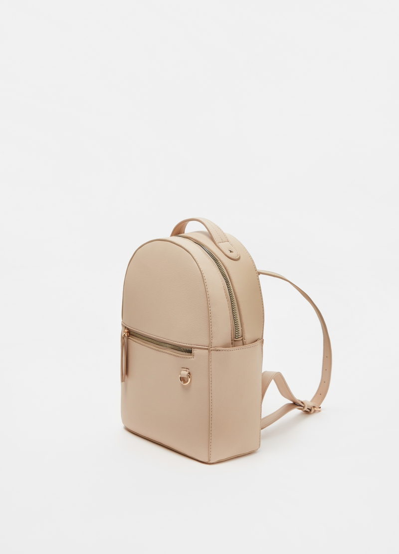 Textured-effect backpack with zip image number null