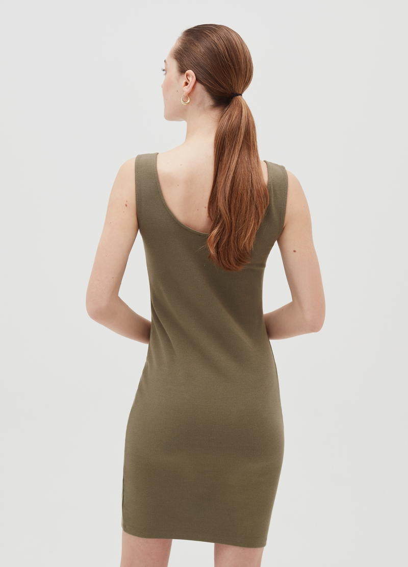 Short stretch cotton tube dress image number null