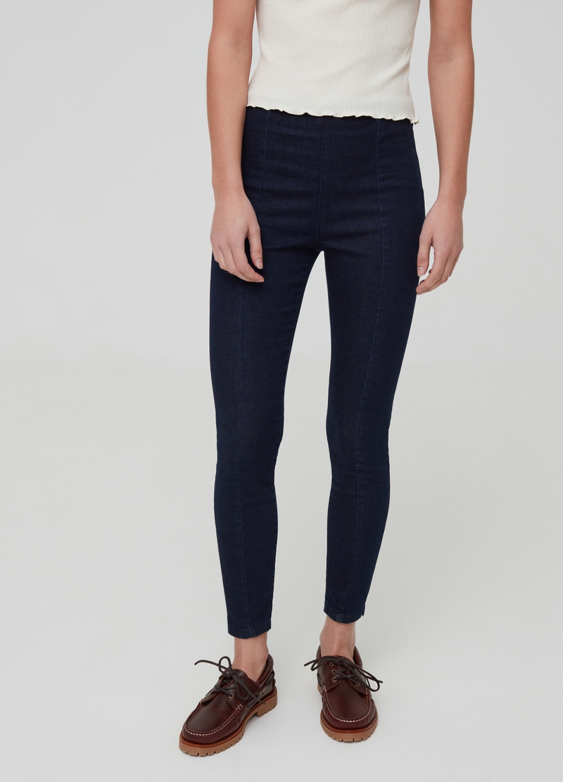 Stretch jeggings with pockets image number null