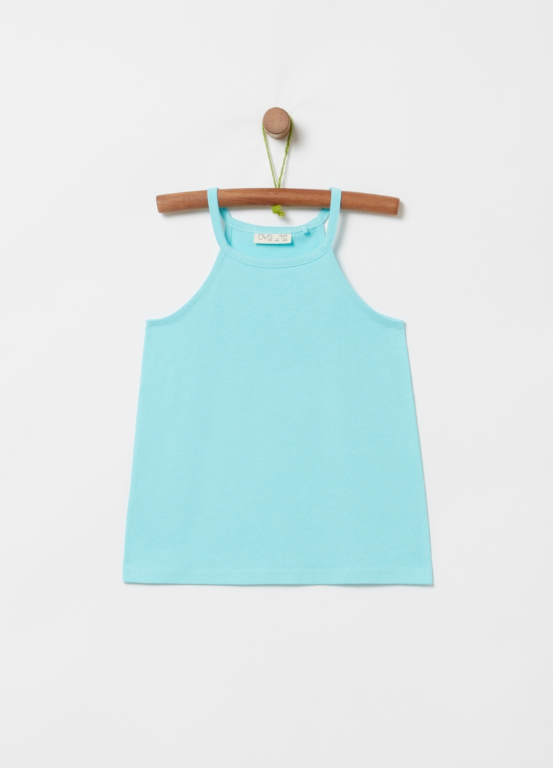100% cotton sleeveless tank top. image number null