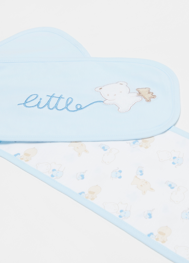 Two-pack 100% organic cotton bibs with pattern image number null