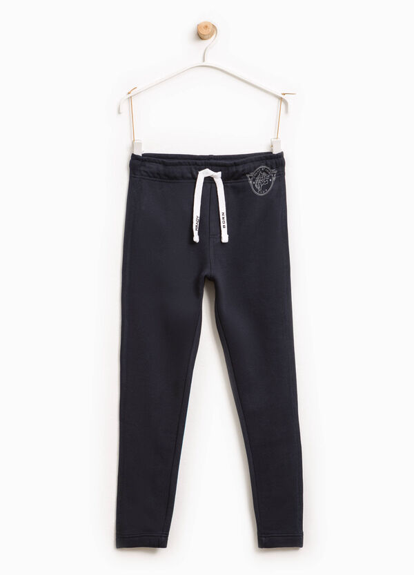 Cotton joggers with print and drawstring | OVS