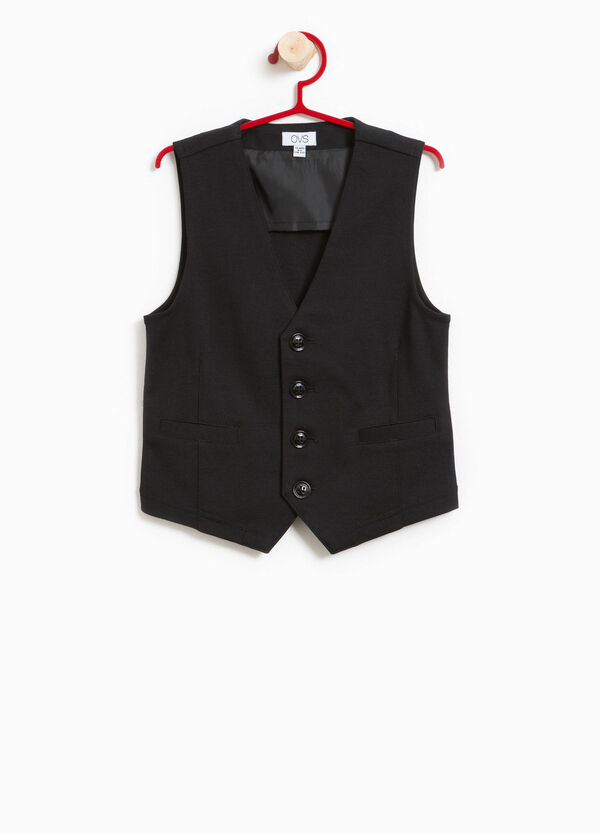 V-neck stretch cotton gilet | OVS