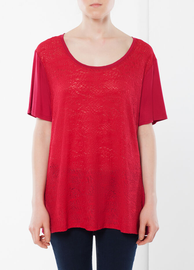 T-shirt with openwork front