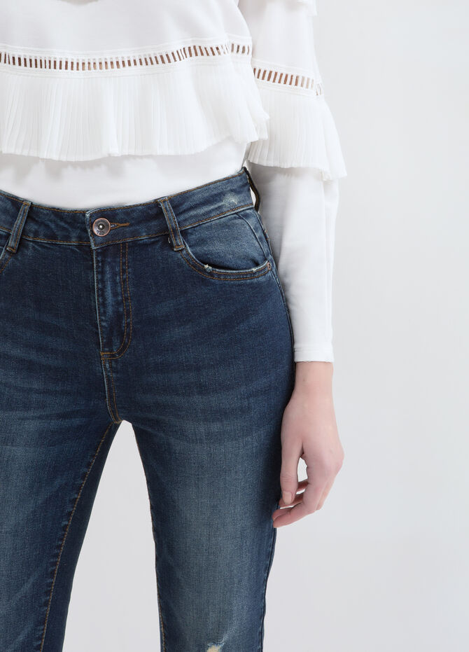Jeans skinny fit effetto used