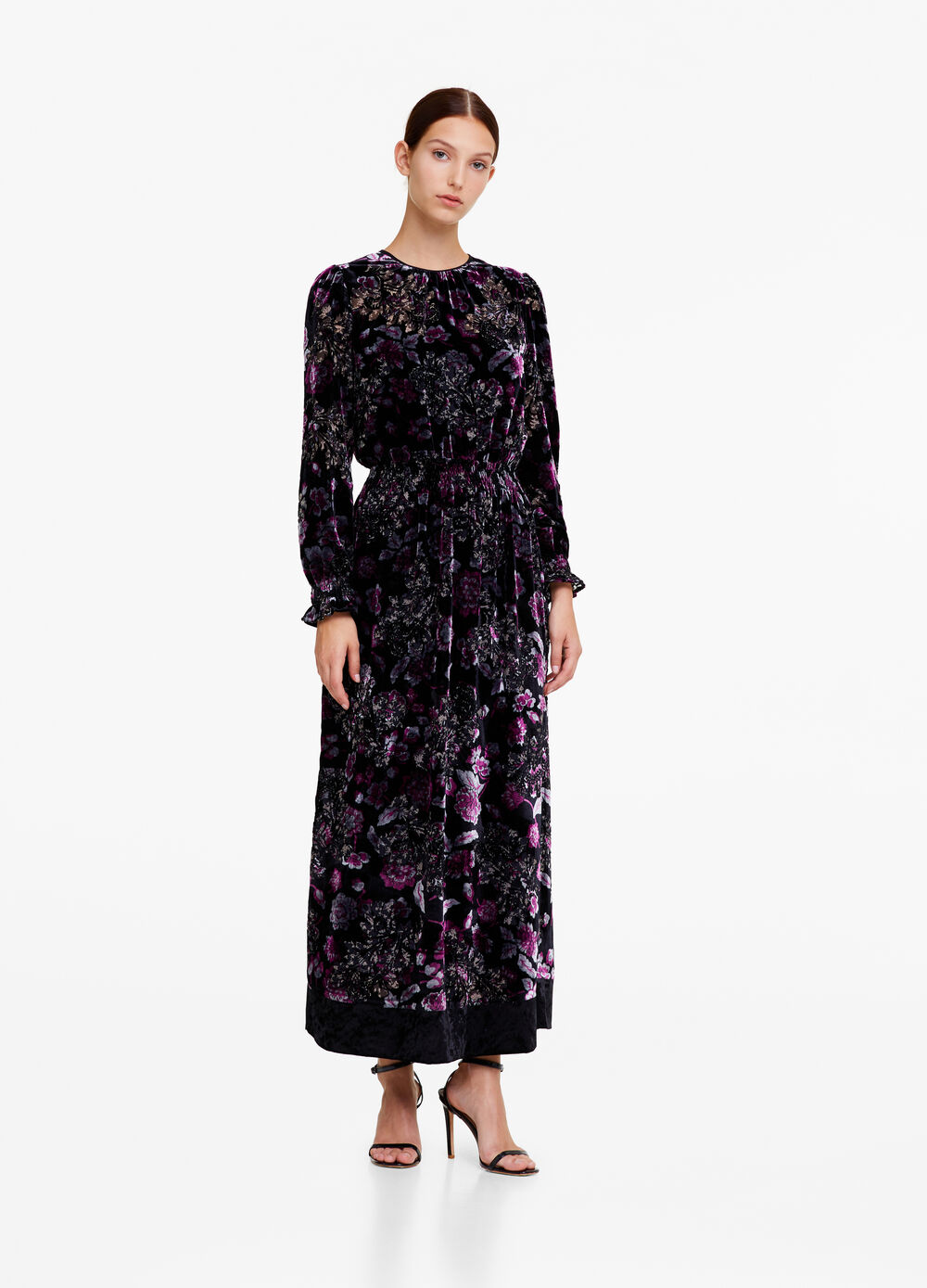 OVS Premium long dress with floral pattern