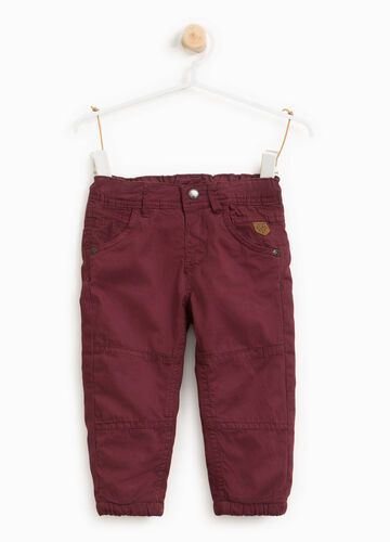 100% cotton trousers with patches