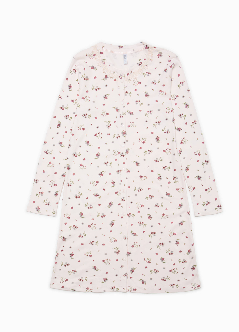 Floral patterned cotton nightshirt image number null