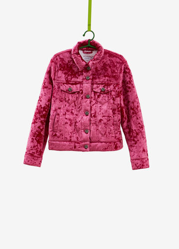 Stretch chenille jacket with pockets