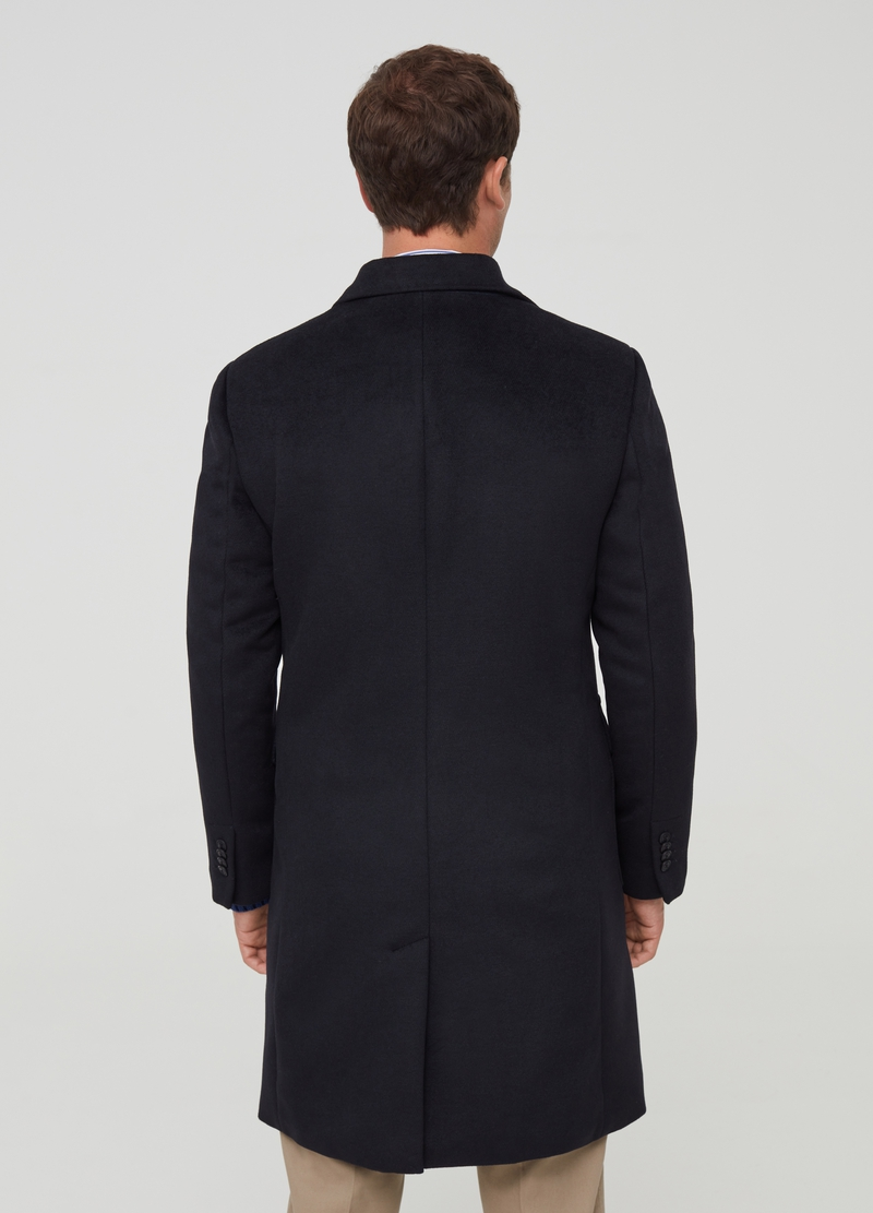 PIOMBO suede-effect coat with lapels image number null