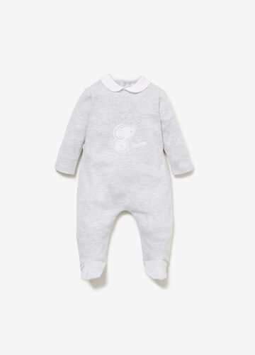 100% cotton onesie with animal patch