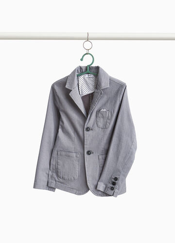 Blazer due bottoni stretch fantasia