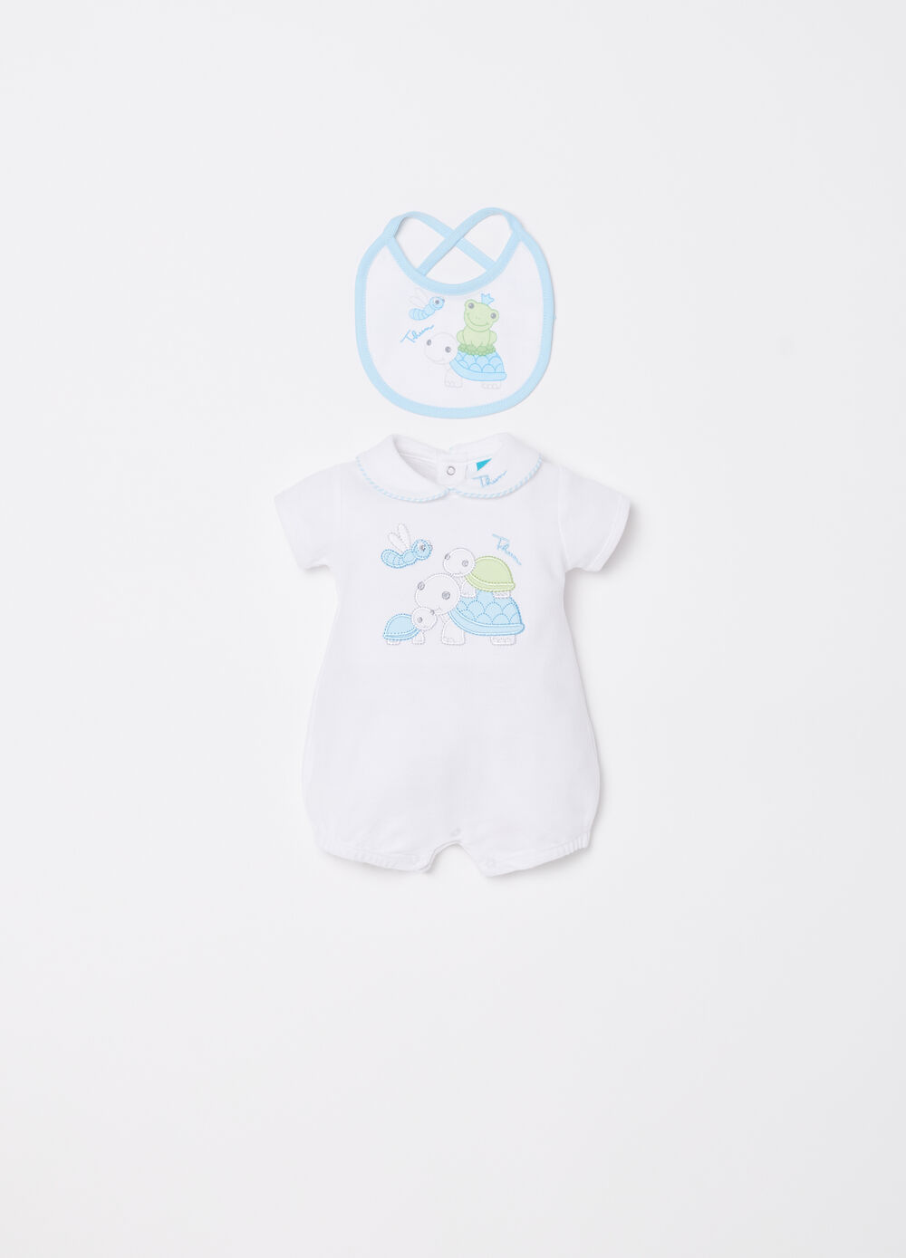 THUN short onesie and bib set