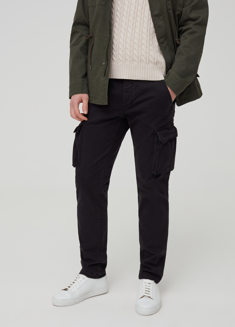Slim fit cargo trousers image number null