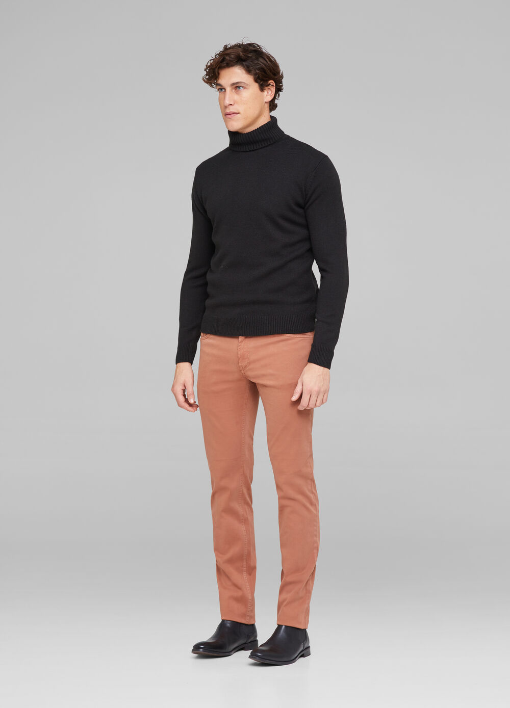 Slim fit, stretch cotton trousers