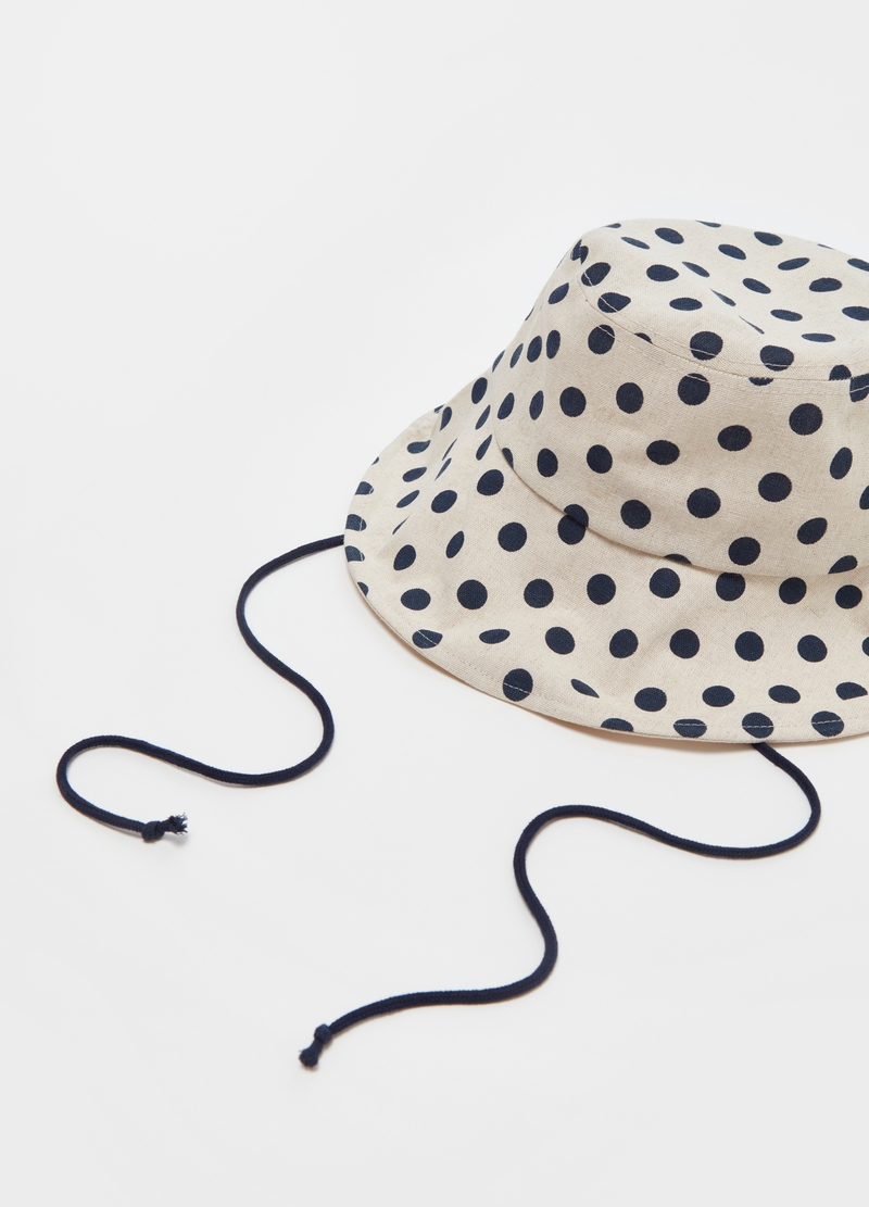 Fishing hat with polka dot weave image number null
