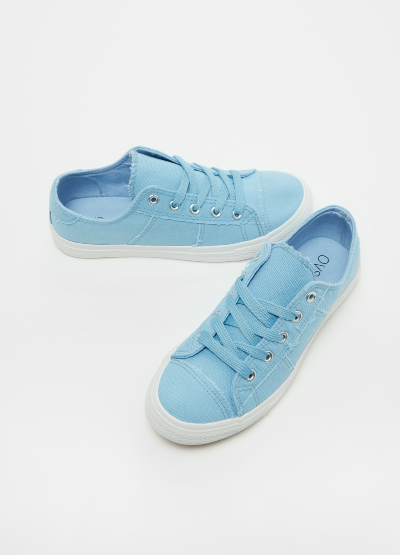 Sneakers in cotone con lacci image number null