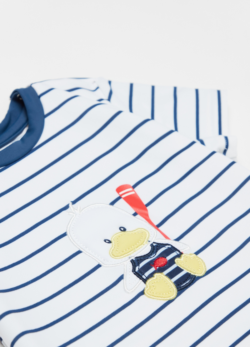 Beach T-shirt with stripes and UPF 50+ image number null